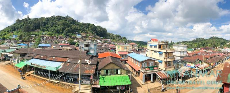 Myanmar Reisetipps | Pinlaung | Hauptstraße und Westseite des Ortes