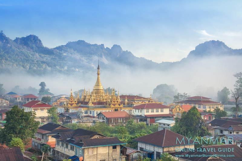 Myanmar Reisetipps | Pinlaung | Mway-Daw-Pagode im Morgennebel