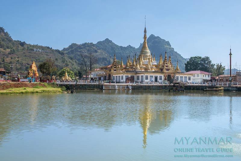 Myanmar Reisetipps | Pinlaung | Mway-Daw-Pagode am Bayint-Naung-See