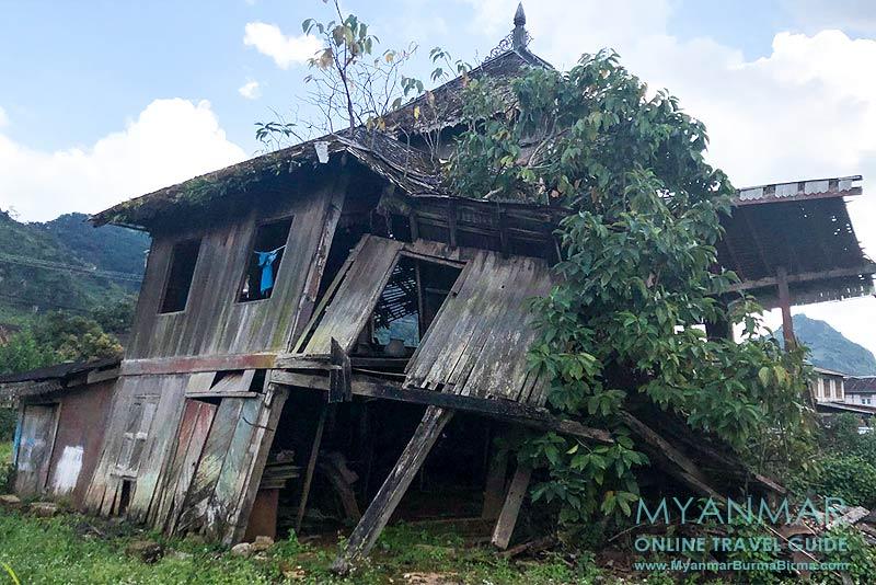 Myanmar Reisetipps | Pinlaung | Rückseite vom alten Shan-Palast (Haw Sao Pha)