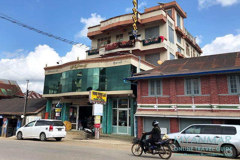 Myanmar Reisetipps | Pinlaung | Wine Wine Lae Motel an der Hauptstraße