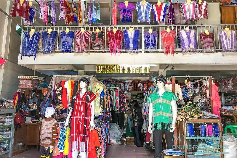 Myanmar Reisetipps | Thandaunggyi | Geschäft Holy Karen National Dress