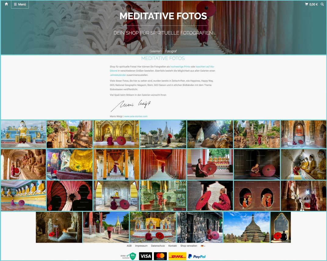 DER ROTE SCHIRM | Shop für meditative und spirituelle Fotos | www.meditative-fotos.de
