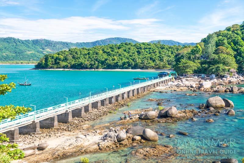 Myanmar Reisetipps | Dawei Peninsula | Brücke zur Myaw-Yit-Pagode in der Andamanensee