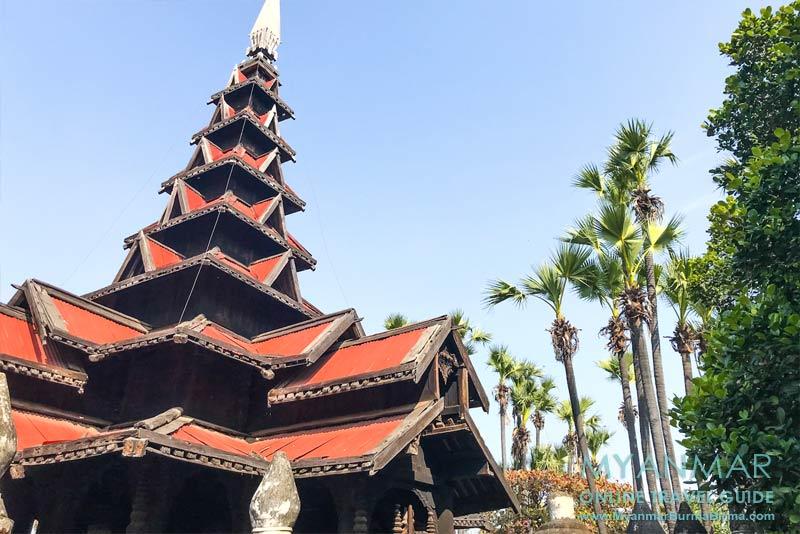 Myanmar Reisetipps | Umgebung von Mandalay | Inwa | Teakholzkloster Bagaya Kyaung, eine Attraktion außerhalb der Stadtmauer