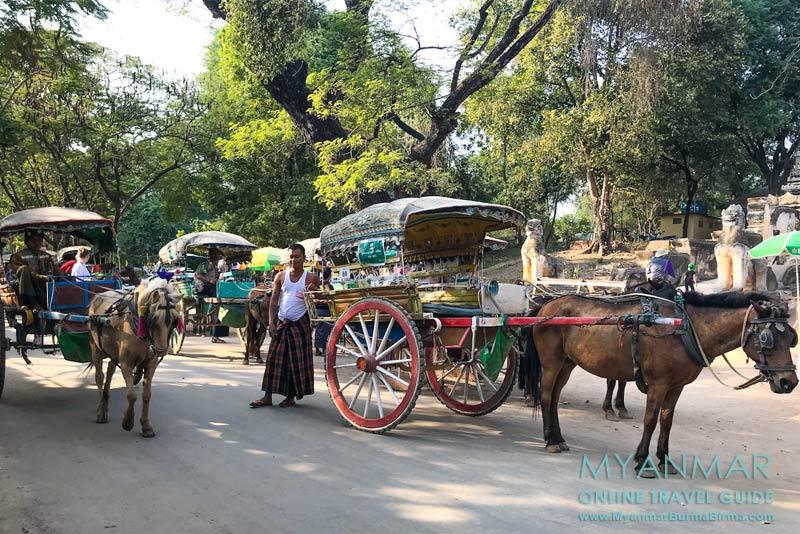 Myanmar Reisetipps | Umgebung von Mandalay | Inwa | Die meisten Touristen erkunden mit der Pferdekutsche die alte Königsstadt Inwa.
