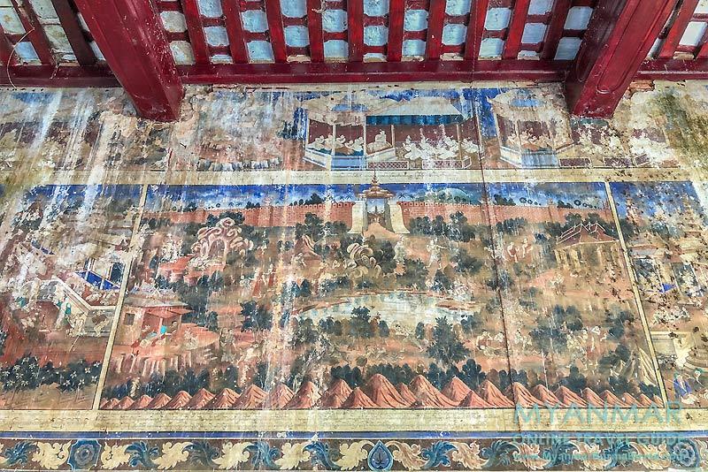 Myanmar Reisetipps | Pakokku | Wandmalereien in der Shwe-Tan-Tit-Pagode
