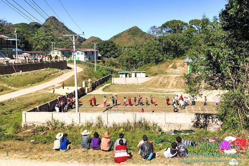 Myanmar Reisetipps | Pindaya | Sportfest im Palaung-Dorf Yasagyi