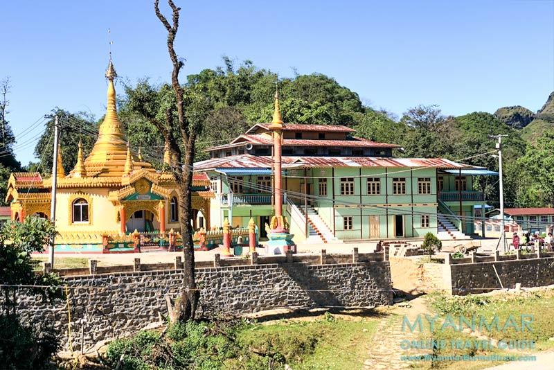 Myanmar Reisetipps | Pindaya | Kloster im Palaung-Dorf Yasagyi