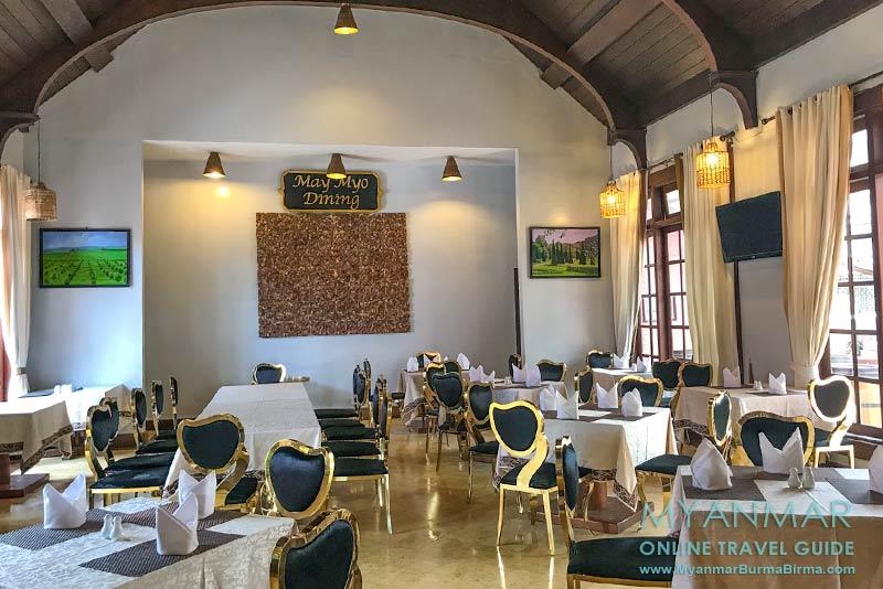 Myanmar Reisetipps | Pyin U Lwin | Restaurant im Aureum Palace Hotel & Resort
