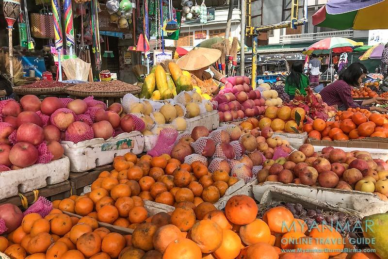 Myanmar Reisetipps | Pyin U Lwin | Obstverkauf am Myoma-Markt
