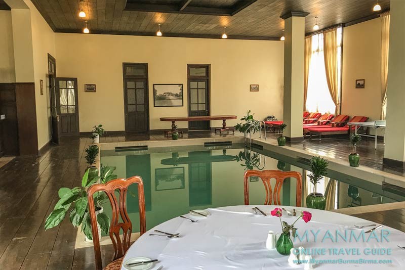 Myanmar Reisetipps | Pyin U Lwin | Indoor-Pool im Governor's House