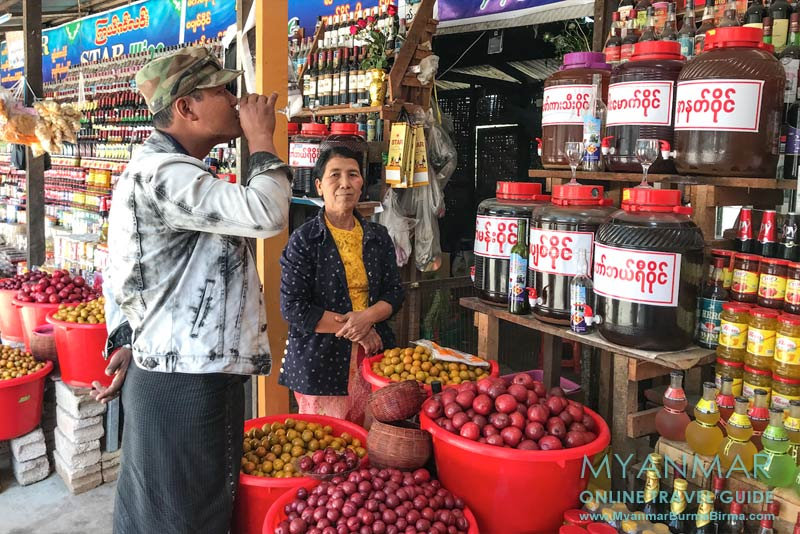 Myanmar Reisetipps | Pyin U Lwin | Weinverkostung am Pwe-Kauk-Wasserfall