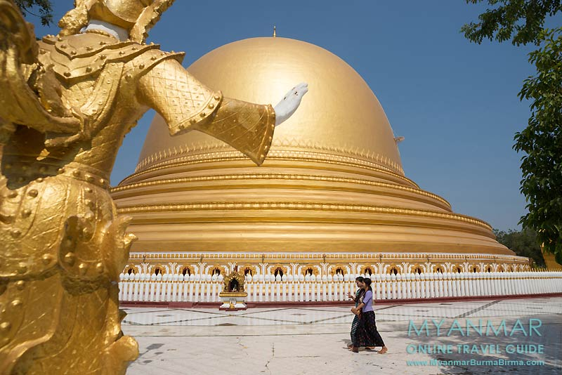 Myanmar Reisetipps | Umgebung von Mandalay | Sagaing | Kaunghmudaw-Pagode, auch bekannt als Yaza Mani Sula Kaunghmudaw oder Rajamanisula
