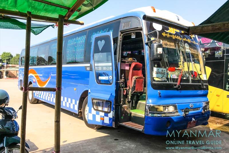 Myanmar Reisetipps | Stadt Ye | Der Busbahnhof liegt an der Nationalstraße 8.