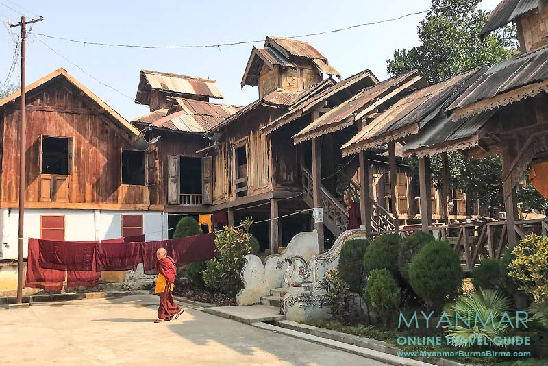 Myanmar Reisetipps | Hsipaw | Teakholzkloster Maha Nanda Kantha