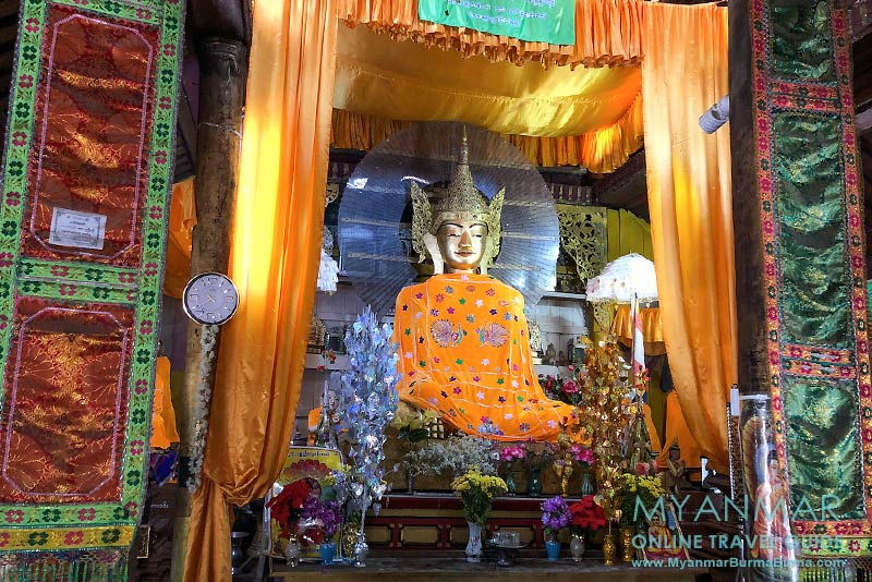 Myanmar Reisetipps | Hsipaw | Bambus-Buddha im Teakholzkloster Maha Nanda Kantha