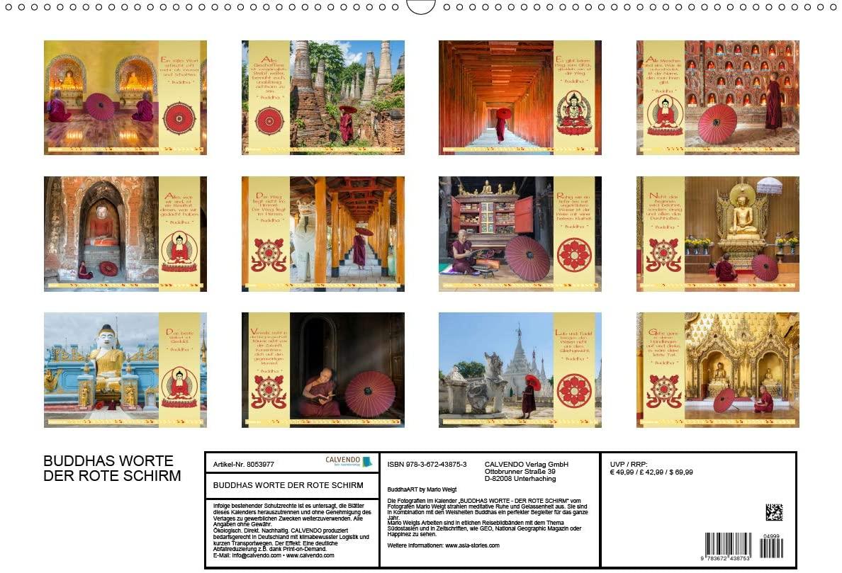 Alle Motive 2021 Kalender DER ROTE SCHIRM von BuddhaArt by Mario Weigt