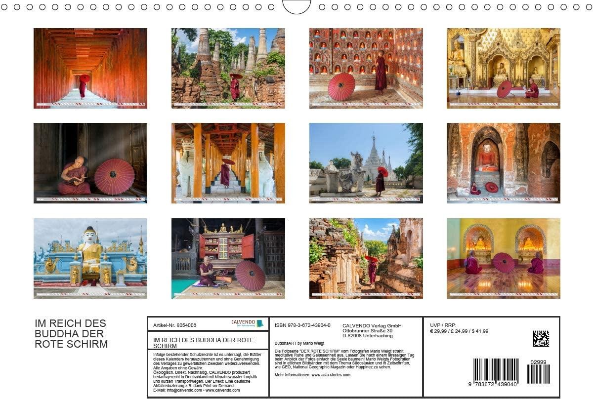 Motive vom Kalender 2021 DER ROTE SCHIRM von Mario Weigt BuddhaArt