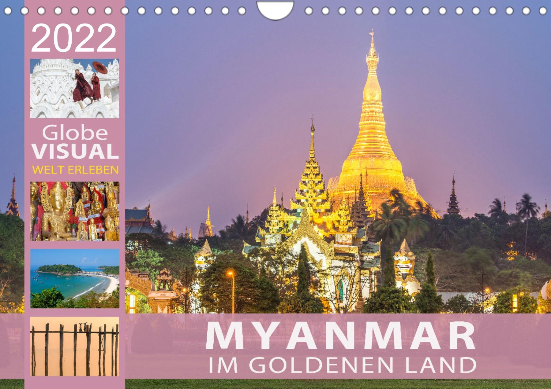Kalender Myanmar 2022 Im goldenen Land