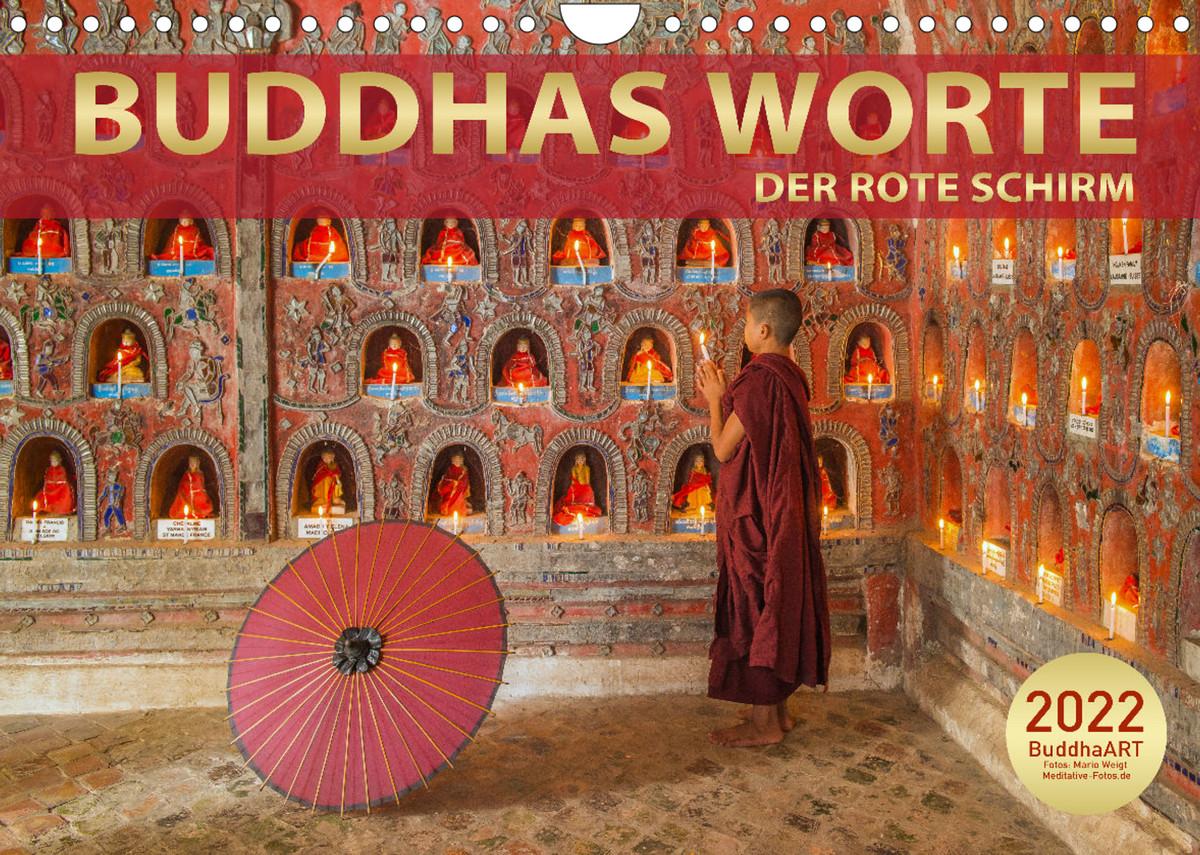 Kalender 2022 Der rote Schirm - Buddhas Worte