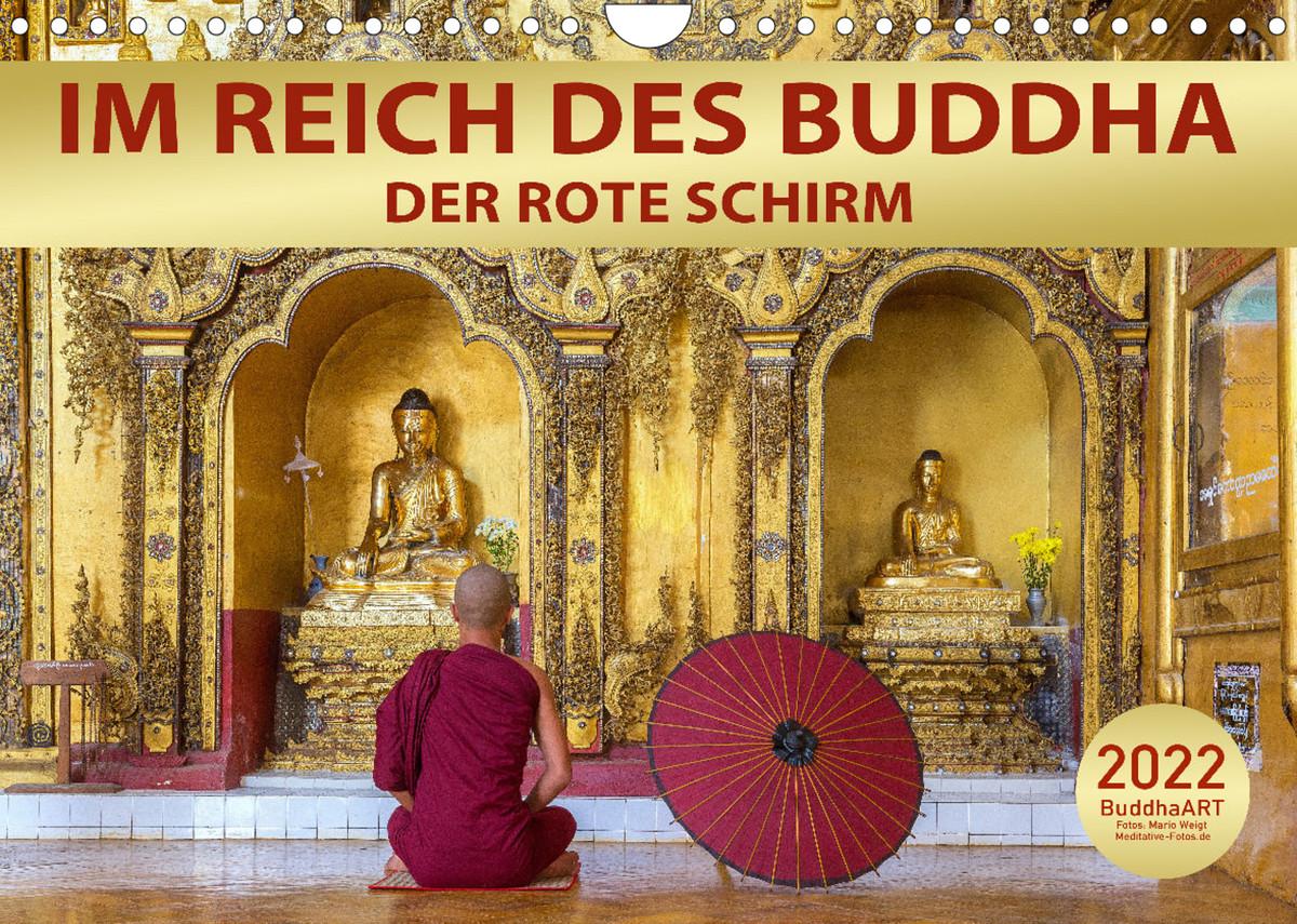Kalender 2022 Der rote Schirm - Im Reich des Buddha